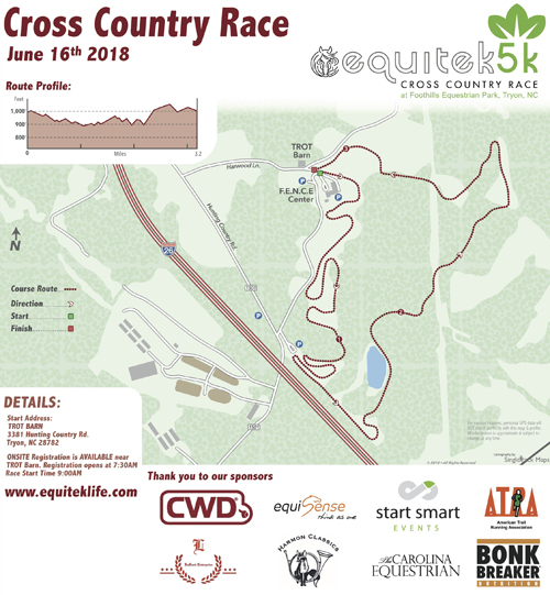 2018 EquiTek 5k Course Map